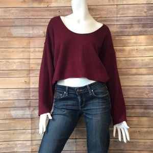 Altar'd state cropped fit sweater scoop neck small